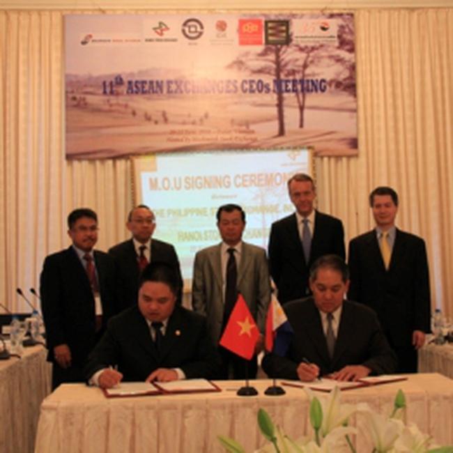 SGDCK Hà Nội ký kết biên bản ghi nhớ hợp tác với Sở GDCK Philippin (PSE)
