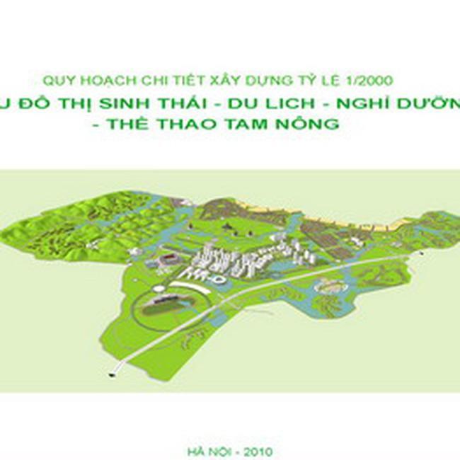 Xây Khu đô thị sinh thái nghỉ dưỡng hơn 2.050 ha tại Phú Thọ