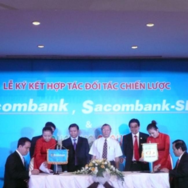 DLG ký kết hợp tác chiến lược với Sacombank, Sacombank – SBS