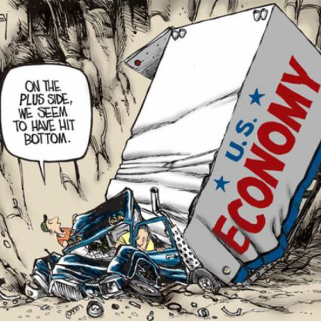 Tiêu tan hy vọng về khả năng kinh tế Mỹ hồi phục hình chữ V