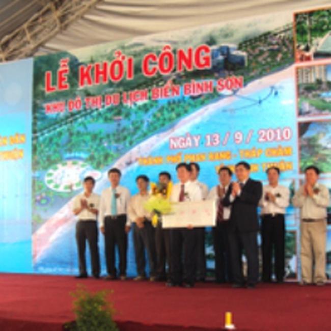 Khởi công dự án Khu đô thị du lịch biển Bình Sơn