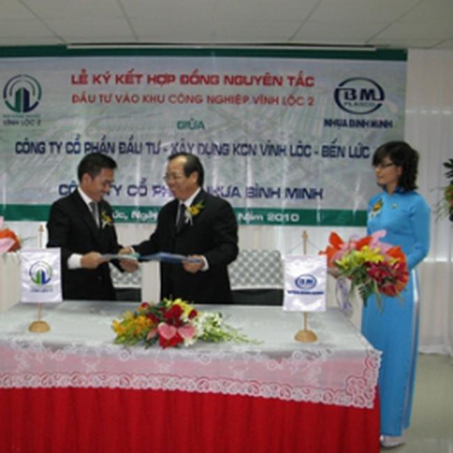 BMP: Ký kết Hợp đồng nguyên tắc thuê 15,56 ha đất tại KCN Vĩnh Lộc-Long An