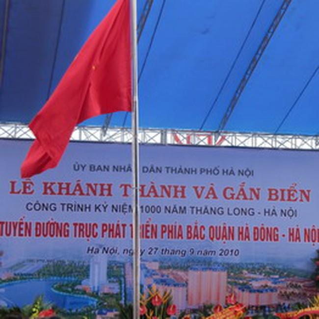Khánh thành đường trục phát triển phía Bắc quận Hà Đông