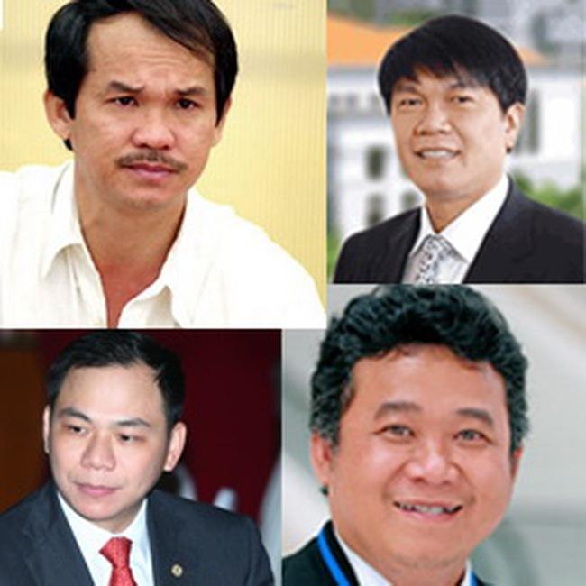 Top những người giàu nhất trên thị trường chứng khoán tháng 9/2010