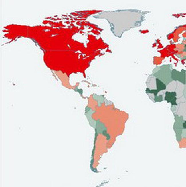 Economist công bố con số nợ chi tiết của các nước trên thế giới