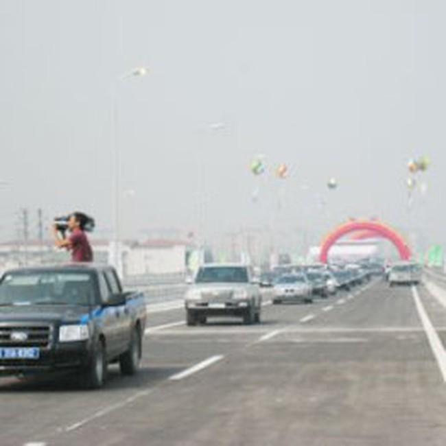 Chính thức kết nối cầu Thanh Trì và đường vành đai III Tp Hà Nội