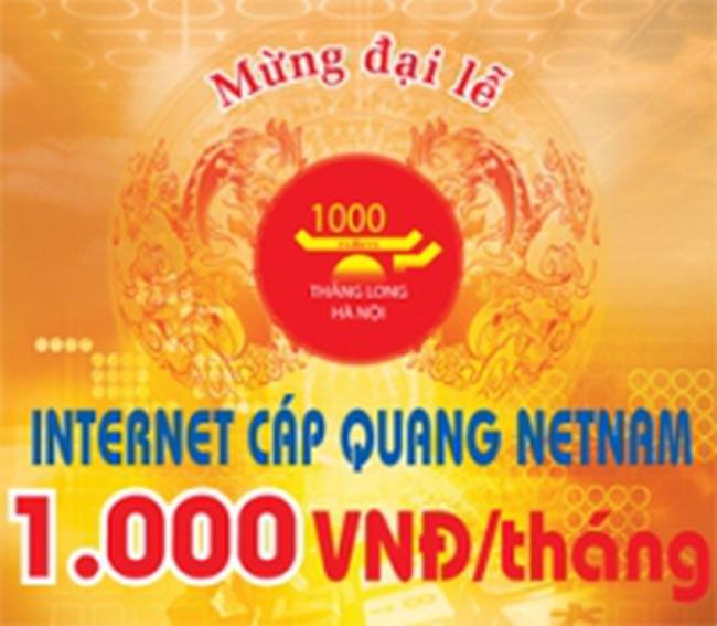Internet cáp quang NetNam – Khuyến mãi lớn mừng đại lễ