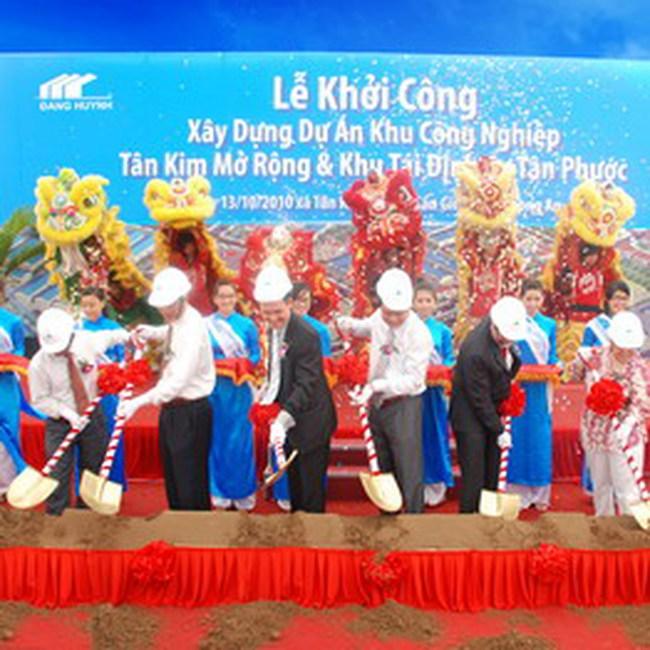 Sacomreal khởi công KCN Tân Kim mở rộng và Khu tái định cư Tân Phước