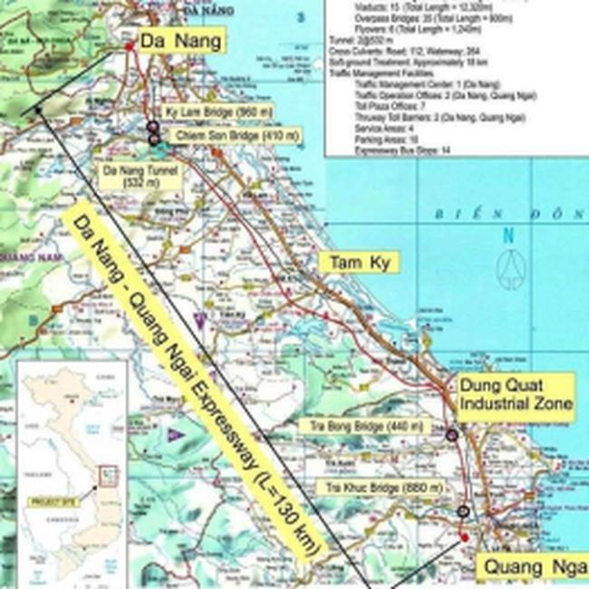 Dự án đường cao tốc Đà Nẵng-Quảng Ngãi: Đà Nẵng giao mặt bằng trước 3 tháng