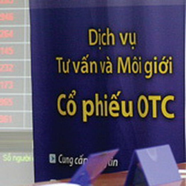 OTC: Đóng băng giao dịch