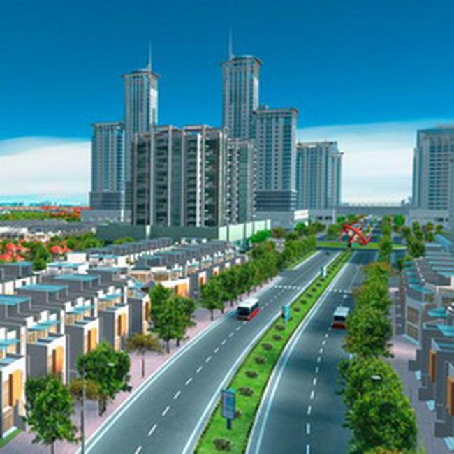 Khu đô thị mới Nam đường vành đai 3 có quy mô gần 90 ha