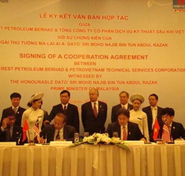 PVS ký thỏa thuận hợp tác về dầu khí với Malaysia