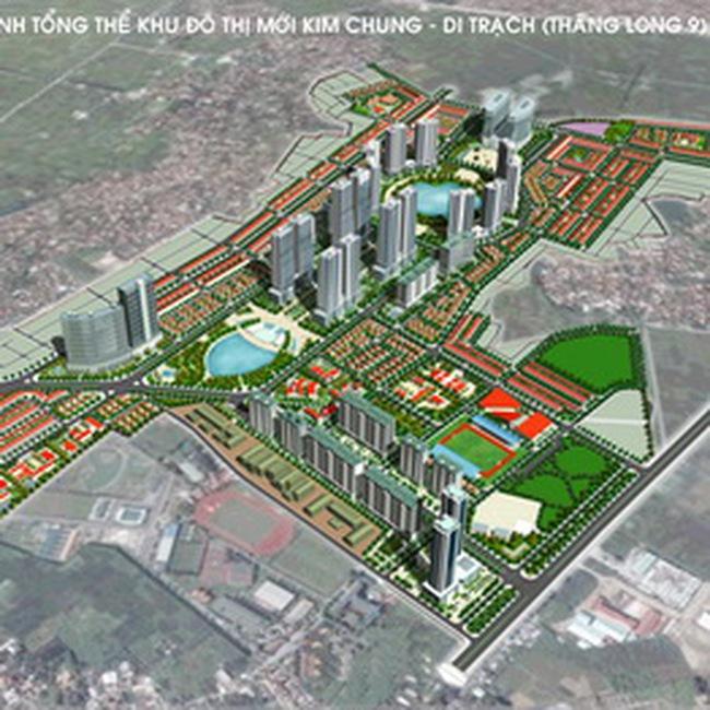 Khu đô thị mới Kim Chung - Di Trạch phải tạm dừng chờ quy hoạch