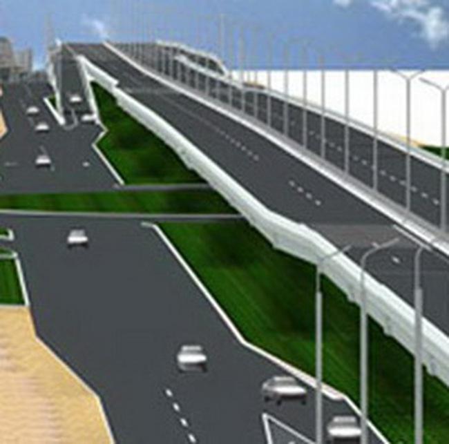 Xây đường trên cao đoạn đường vành đai 2 từ Cầu Vĩnh Tuy đến Ngã Tư Sở