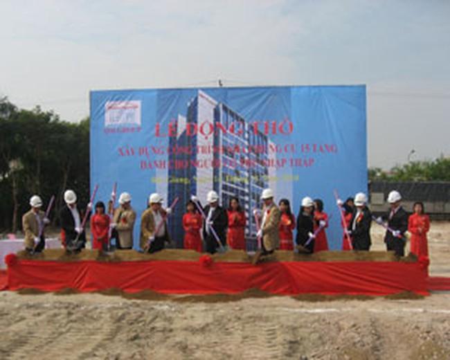 Khởi công chung cư 15 tầng dành cho người có thu nhập thấp tại Bắc Giang