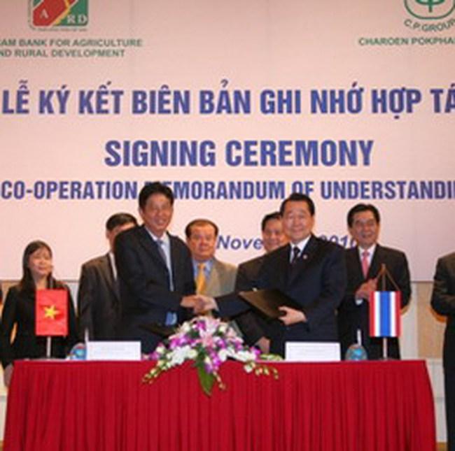 Agribank ký thỏa thuận hợp tác với CP Group Thái Lan