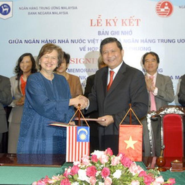 NHNN Việt Nam và NHTW Malaysia tăng cường quan hệ hợp tác
