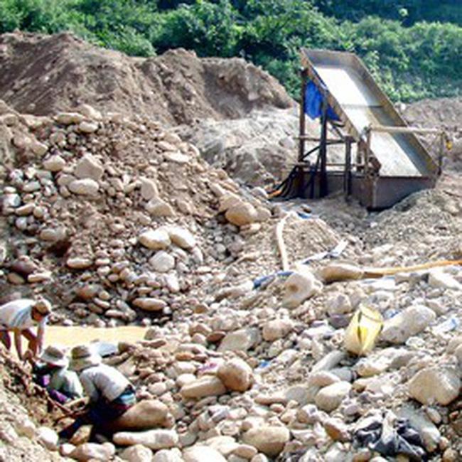 Vì vàng, băm nát sông Đakrông
