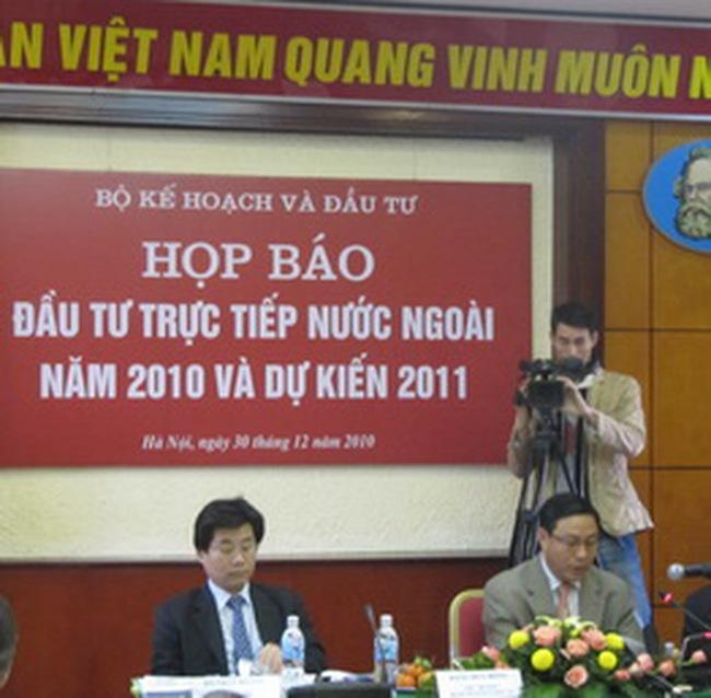 Dự kiến năm 2011 Việt Nam thu hút khoảng 20 tỷ USD vốn FDI