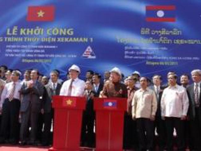 Khởi công Thủy điện Xekaman 1 lớn nhất ở Lào do Việt Nam đầu tư