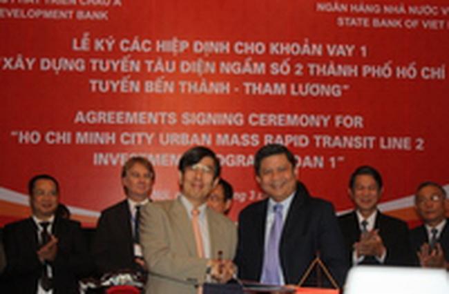 """Ký Hiệp định vay Dự án """"Xây dựng tuyến tàu điện ngầm số 2 thành phố Hồ Chí Minh, tuyến Bến Thành – Tham Lương"""""""