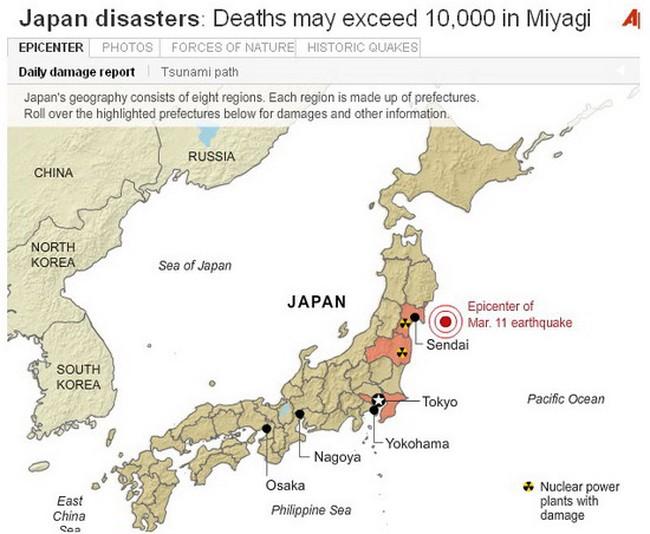 Nikkei 225 sụt 6,18% trong phiên giao dịch đầu tiên sau động đất