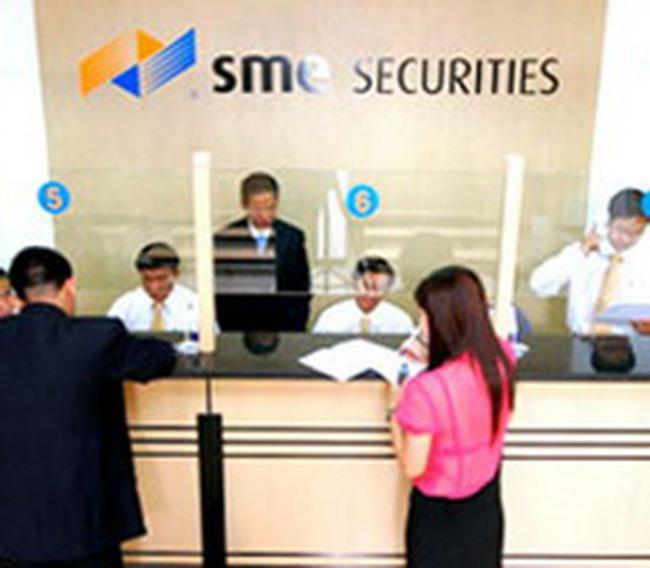 Chứng khoán SME: Đặt kế hoạch LNTT năm 2011 đạt 35,2 tỷ đồng, tăng 91,3% so với năm 2010