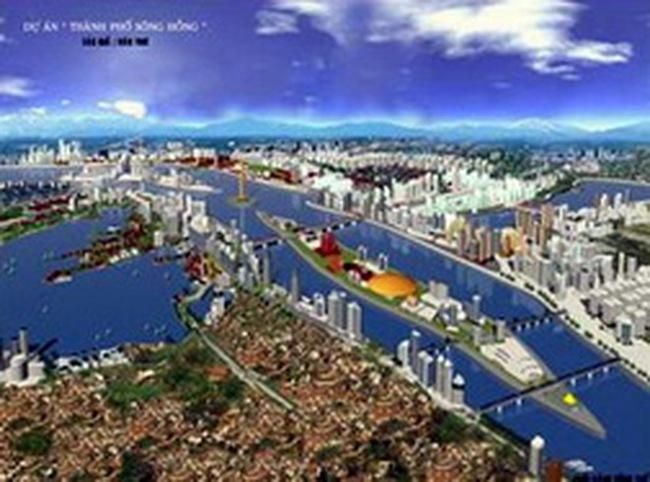 """Cần hơn 7 tỷ USD để xây """"thành phố bên sông Hồng"""""""