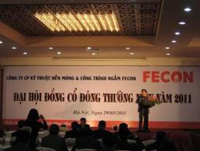 FECON: Thông qua kế hoạch cổ tức 30%, LNST 80 tỷ đồng năm 2011