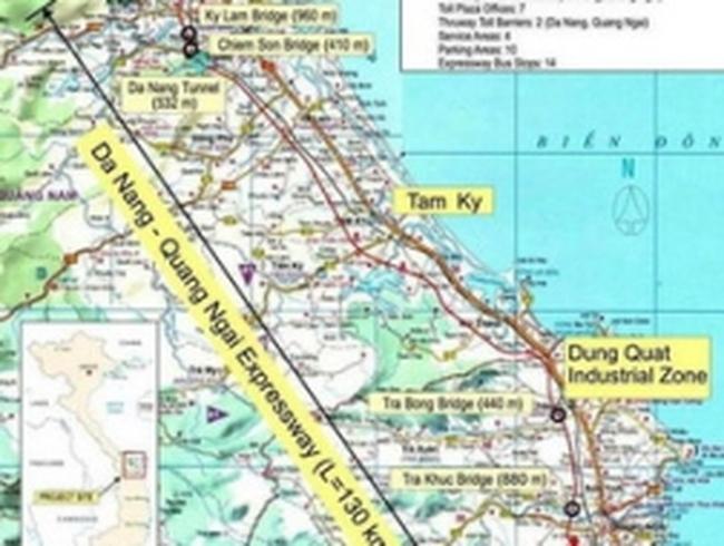 28.000 tỷ đồng xây cao tốc Đà Nẵng-Quảng Ngãi