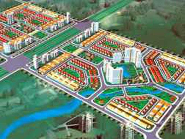 Phê duyệt chỉ giới đường trục trung tâm Khu đô thị Mê Linh