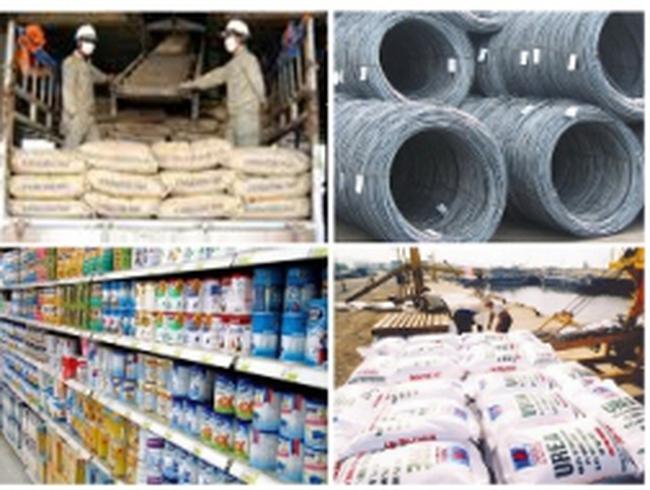 Sẽ kiểm tra giá và thuế thép, khí hoá lỏng, sữa bột, TACN, xi măng, phân bón và đường ăn