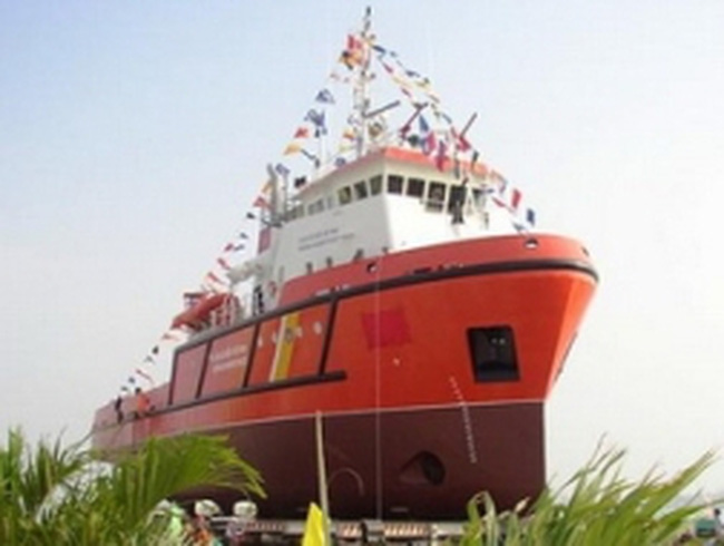 Xây sàn nâng tàu lớn nhất châu Á gần Hải Phòng