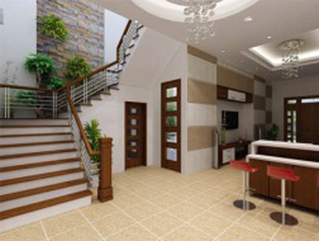 Cầu thang tạo nét duyên cho nhà