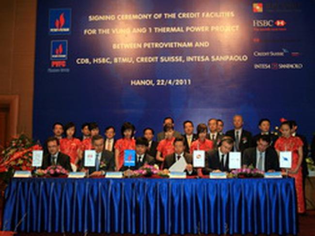 PetroVietnam ký kết Hợp đồng tài trợ tín dụng dự án Nhiệt điện Vũng Áng 1