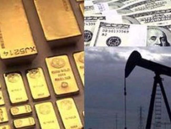 Chốt lời khiến giá bạc mất 5%, vàng và dầu thô cùng hạ