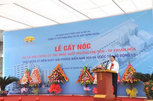 HUD4: Hoàn thành xây thô dự án Khu chung cư Phú Sơn