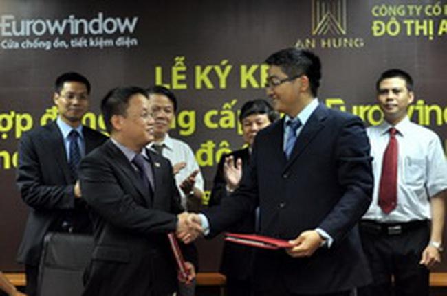 Eurowindow là đối tác của KĐT An Hưng và Vietcombank Tower