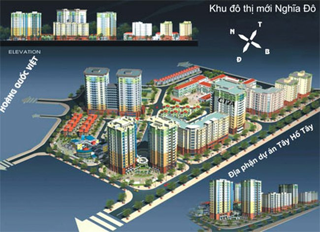 Hà Nội: Xây thêm 5 tòa chung cư tại KĐT Nghĩa Đô