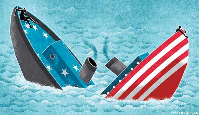 """Mỹ và châu Âu sẽ cùng """"chìm nghỉm"""""""