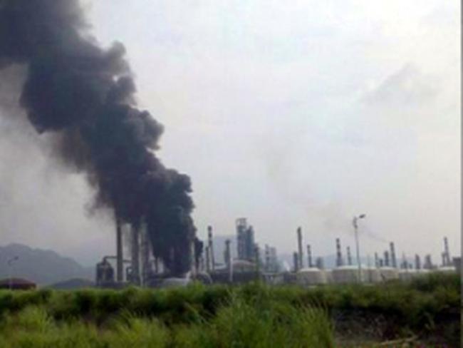 Cháy nhà máy lọc dầu tại Trung Quốc