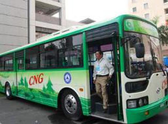 Tháng 8, khai thác tuyến xe buýt chạy bằng khí thiên nhiên