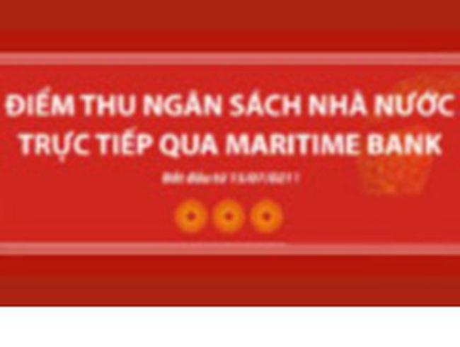 Maritime Bank: Sẽ thu ngân sách cho Kho bạc Nhà nước và Tổng cục Thuế