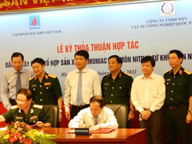 PVN hợp tác với Bộ Quốc phòng sản xuất Amoniac và Amôn Nitrat