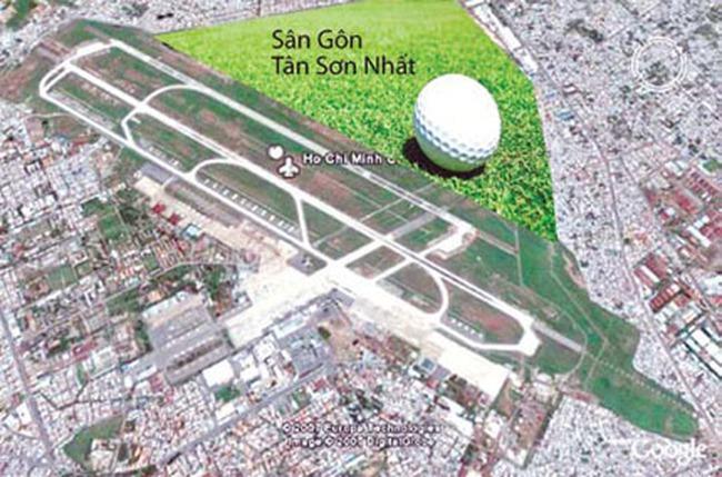 Sân golf trong sân bay: Bình thường và bất thường