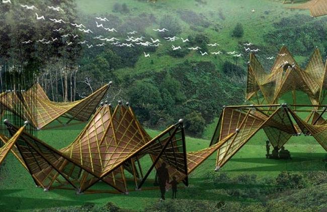 Đẹp mê hồn với những công trình kiến trúc từ tre