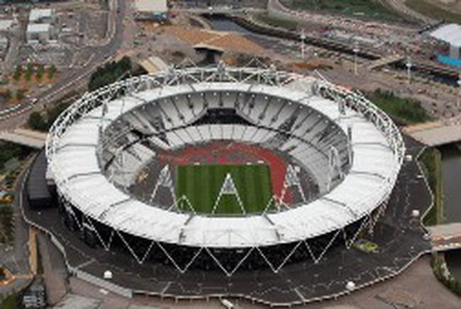 Các công trình phục vụ Olympic London 2012 nhìn từ trên cao