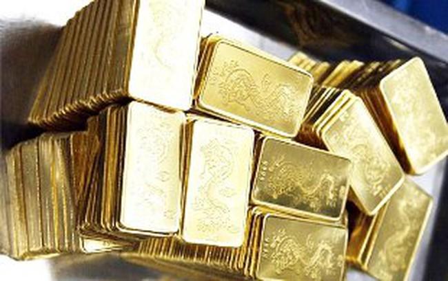 Vàng lên 44,2 triệu đồng/lượng