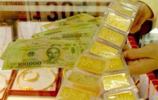 Cuối ngày, vàng xuống 45,2 triệu đồng/lượng