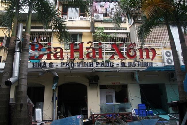 Nổ lớn tại quán bia Hải Xồm tầng 1 chung cư Vĩnh Phúc (quận Ba Đình, Hà Nội)